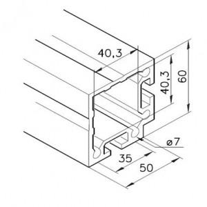 Profil mK-2040.39, L=5100mm