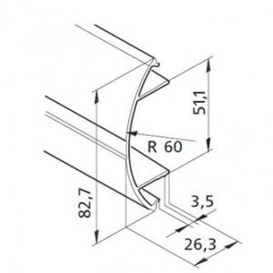 Profil mK-2040.42, L=5100mm