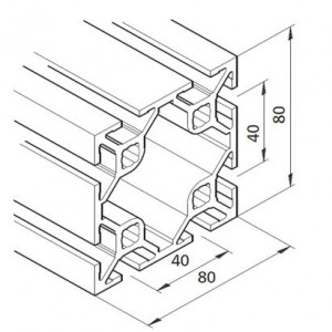 Profil mK-2040.45, L=5100mm