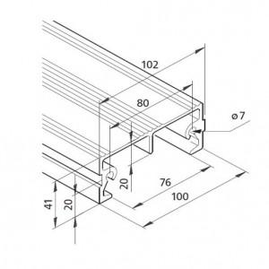 Profil mK-2040.68, L=6100mm