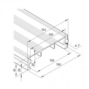 Profil mK-2040.69, L=6100mm