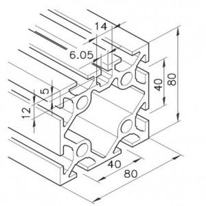Profil mK-2040.73, L=5100mm