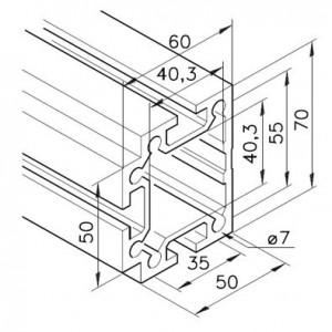 Profil mK-2040.74, L=5100mm