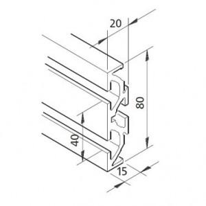 Profil mK-2040.80, L=x?x mm