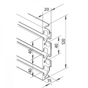 Profil mK-2040.86, L=5100mm