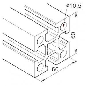Profil mK-2060.01, L=5100mm