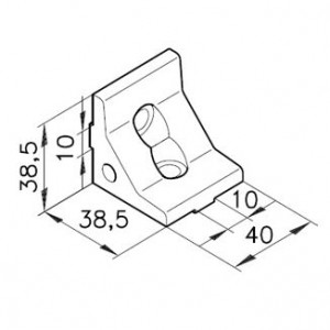 Winkelbausatz E40s3