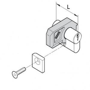 Zylinderschloß L=42mm, komplett