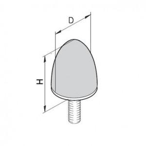 Puffer Typ KP/D - M8x20