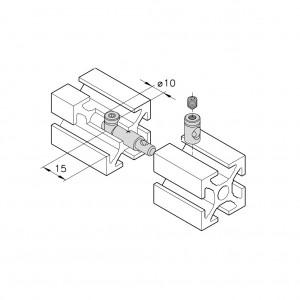 Stoßspannverbinder Serie 40