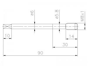 Gewindebohrer M8x1