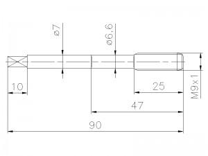 Gewindebohrer M9x1