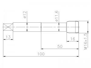 Gewindebohrer M16x1,5