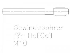 Gewindebohrer für Helicoil M10