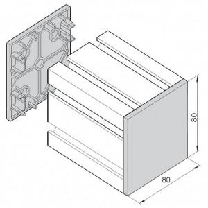 Endkappe mK-2502, schwarz
