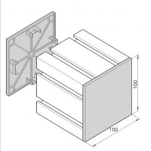 Endkappe mK-2505, schwarz für Profile