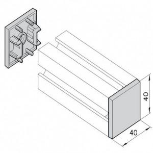 Endkappe mK-2507SI, silbergrau