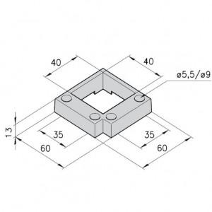 Führung mK-2539 für Profil mK-2040.39