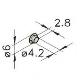 Haltestopfen mK-2553 M5 grün Serie 25