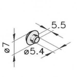 Haltestopfen mK-2554 M6 weiß Serie 40