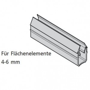 Einfassprofil, mK-3008SI, silbergrau