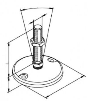 Stellfuß Ø119 M20 - Spindellänge 125mm
